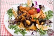 Platou din fructe de mare cu biban (lup de mare) - reteta italiana