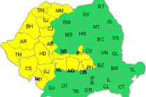 Cod galben de ploi si vânt în perioada 30-31 ianuarie 2015