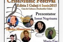 "Festivalul concurs de muzica pop pentru copii si adolescenti ""Crissmusic Festival"", editia I, Galati, 6 iunie 2015"
