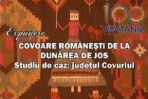 Expunerea cu tema COVOARE ROMÂNEŞTI DE LA DUNĂREA DE JOS – STUDIU DE CAZ: JUDEŢUL COVURLUI.
