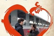 Bilete de tren la jumătate de preț pentru îndrăgostiți de Valentine's Day şi Dragobete