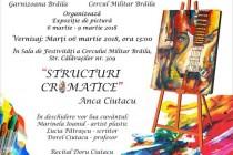 Structuri cromatice de Anca Ciutacu la Cercul Militar Brăila