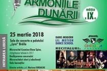 """Concursul de muzică ușoară """"Armoniile Dunării"""" a fost reprogramat pentru data de 25 martie 2018 din cauza condițiilor meteo"""