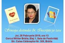 Valentina Balaban. Dublă lansare de carte la Cercul Militar Brăila