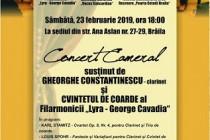 Concert cameral sustinut de clarinetistul Gheorghe Constantinescu