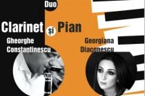 Gheorghe Constantinescu şi pianista Georgiana Diaconescu într-un recital cameral