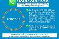 A fost operaționalizată linia TELVERDE destinată informării despre virusul COVID-19