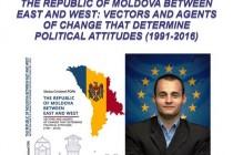 Lansarea cărții The Republic of Moldova between East and West: vectors and agents of change that determine political attitudes (1991-2016) scrisă de Stoica Cristinel Popa