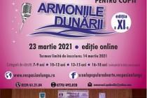 """ÎNSCRIERI LA CONCURSUL """"ARMONIILE DUNĂRII"""" 2021 de la BRĂILA"""