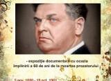Brăila   Expoziție documentară dedicată lui Mihail Sadoveanu