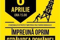 Zi nationala de protest impotriva exploatarii gazelor de sist prin fracturare hidraulica