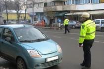 Un șofer beat a făcut o tamponare în Brăila