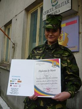Campeanu Alexandra, militar pentru o zi