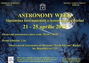 afis ziua astronomiei