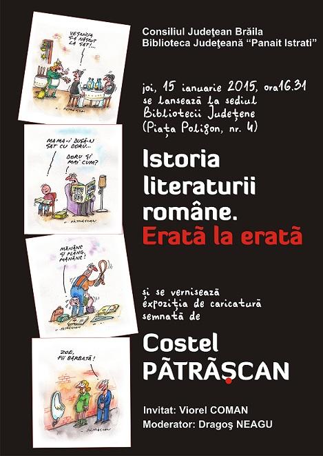 Patrascan - istoria literaturii romane