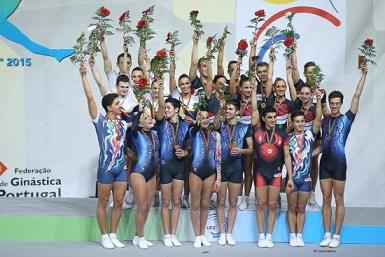 podium gimnastica aerobica