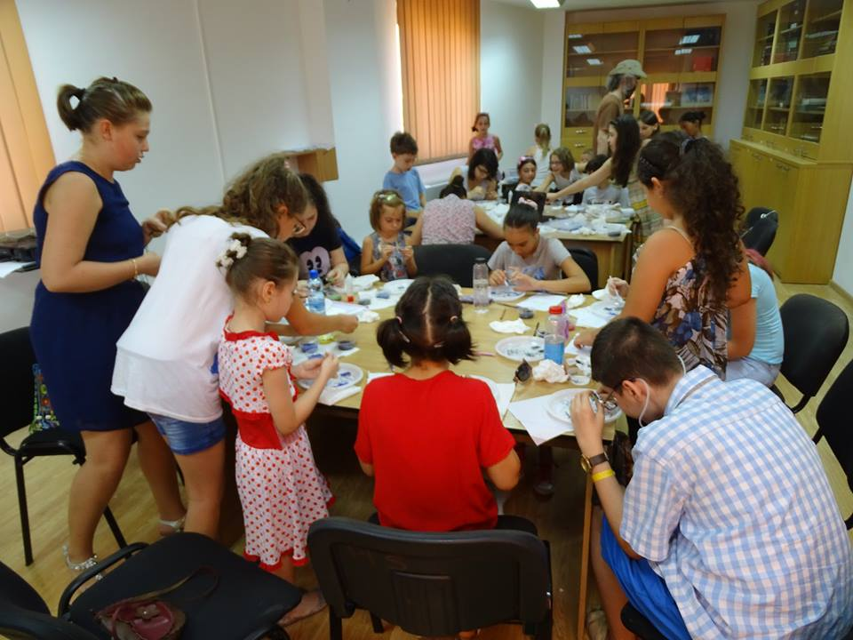 Atelier de sticlarie biblioteca P.Istrati Braila