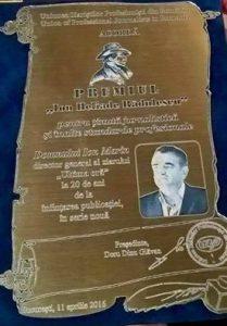 Premiu pentru Ion Marin de la UZPR