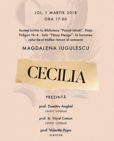 Magdalena Iugulescu romanul Cecilia