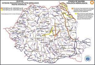 harta avertizare hidrologica