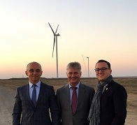 inaugurarea parcului eolian Novotroickoe