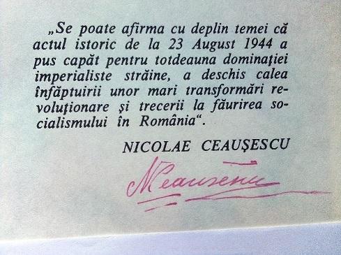 autograf Nicolae Ceausescu