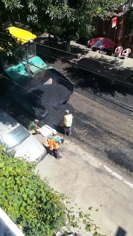 asfaltare cu pamant la braila in hipodrom