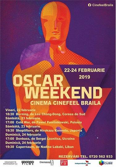 Oscar Weekend va avea loc în intervalul 22-24 Februarie la Cinematograf Cinefeel