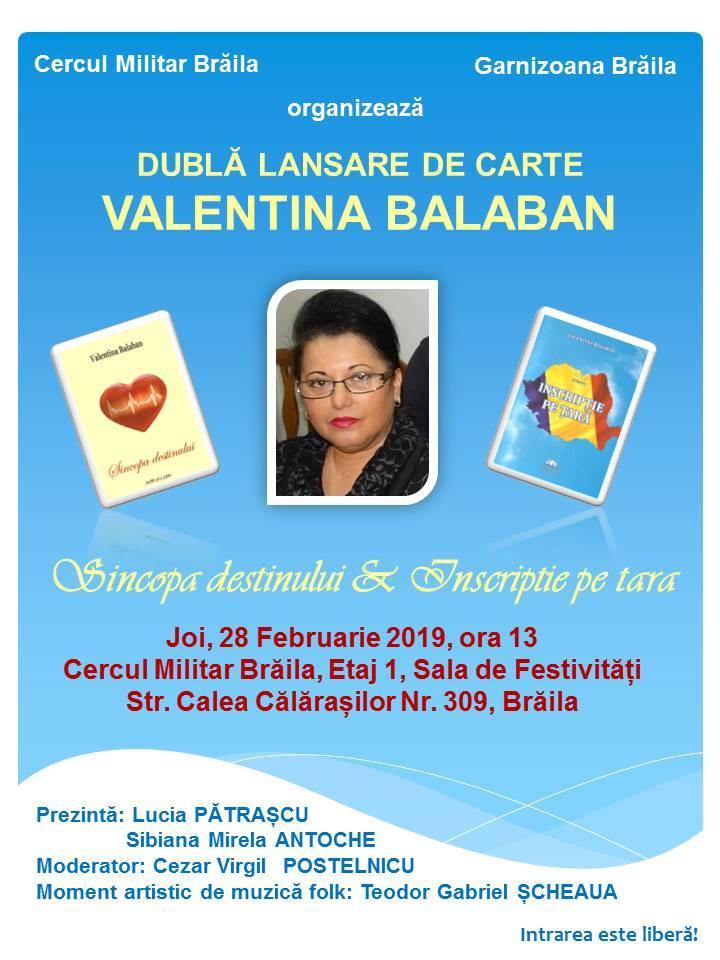 valentina Balaban dubla sansare de carte 2019
