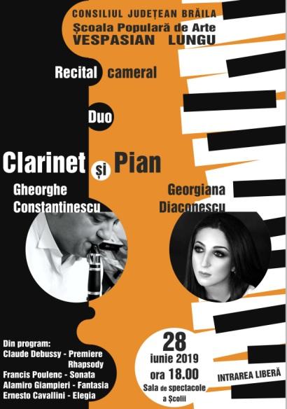 concert pian clarinet braila iunie 2019