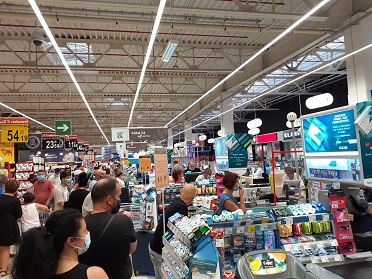 carrefour - aglomeratie in pandemie