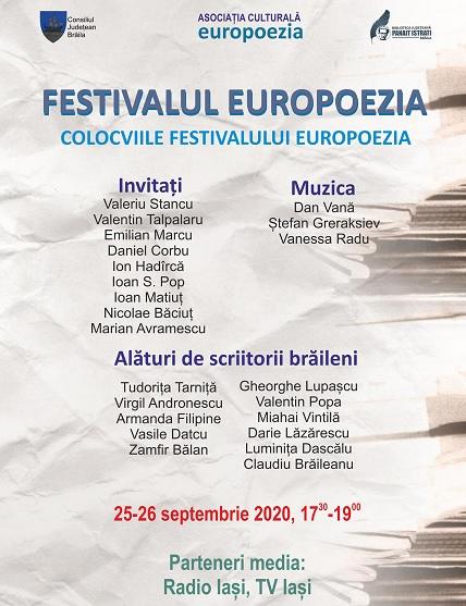 Europoezia 2020 Braila