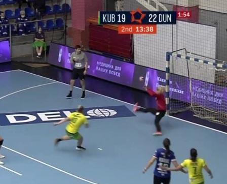 Dunărea Brăila merita victoria în meciul de la Kuban. Scor final Kuban - Dunărea 25-25 (13-15)